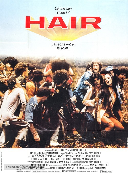 Hair - French Movie Poster