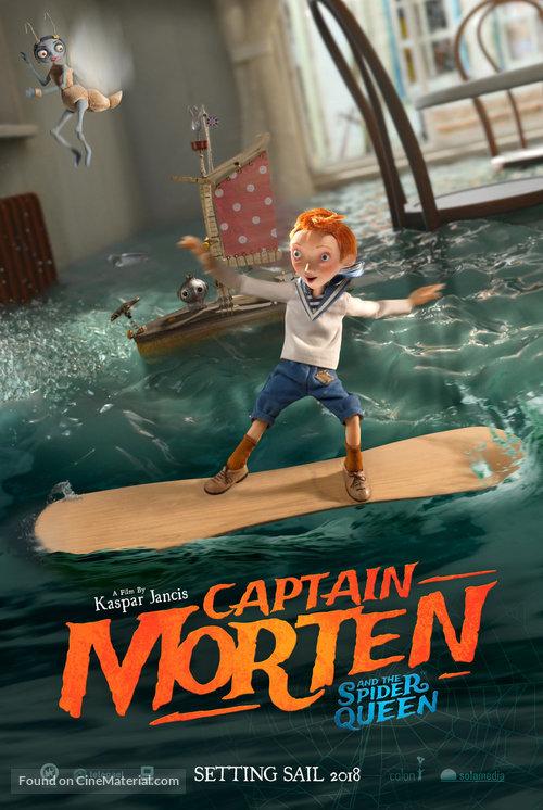Captain Morten and the Spider Queen - German Movie Poster