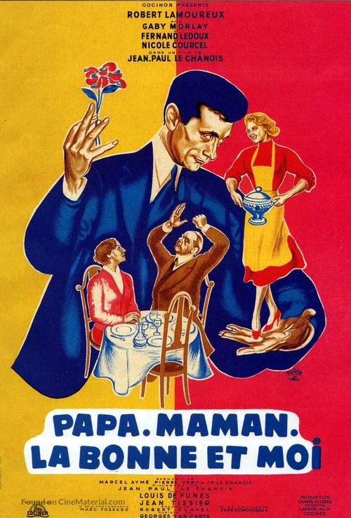 Papa, maman, la bonne et moi... - French Movie Poster