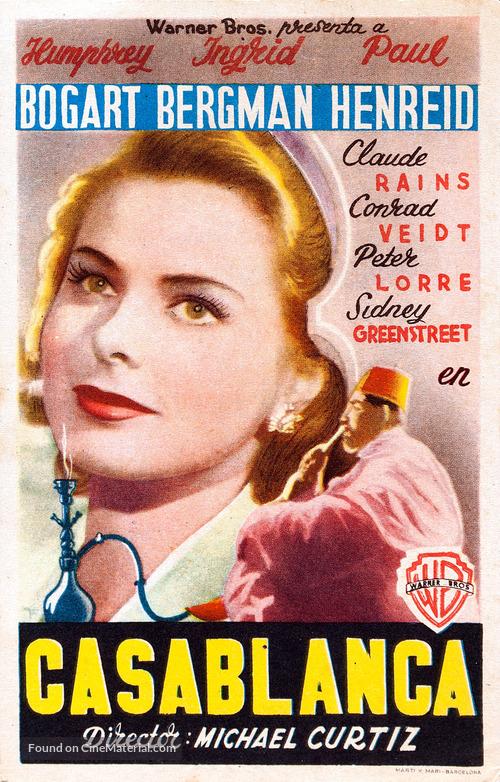 Casablanca - Spanish Movie Poster