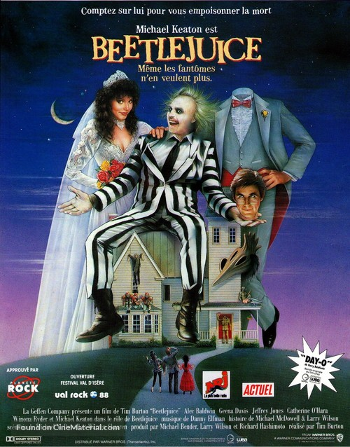Beetle Juice - French Movie Poster