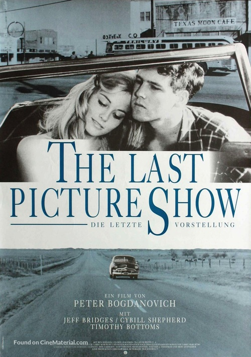 The Last Picture Show - German Movie Poster
