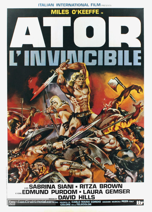 Ator l'invincibile - Italian Movie Poster