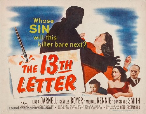 The 13th Letter - Movie Poster