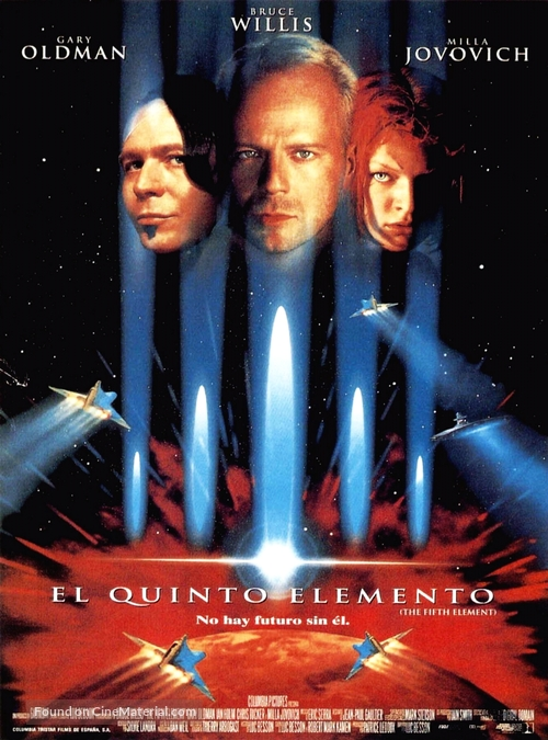 The Fifth Element - Spanish Movie Poster