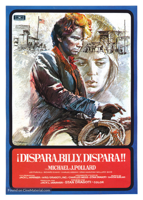 Dirty Little Billy - Spanish Movie Poster