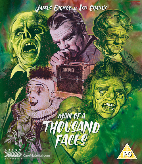 Man of a Thousand Faces - British Blu-Ray movie cover