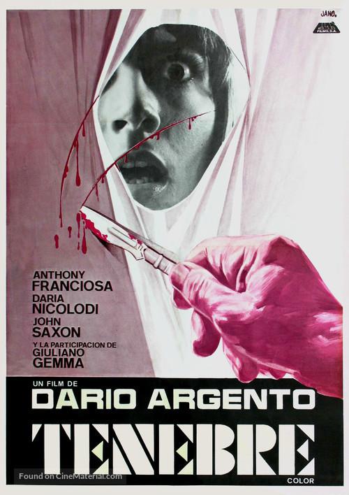 Tenebre - Spanish Movie Poster