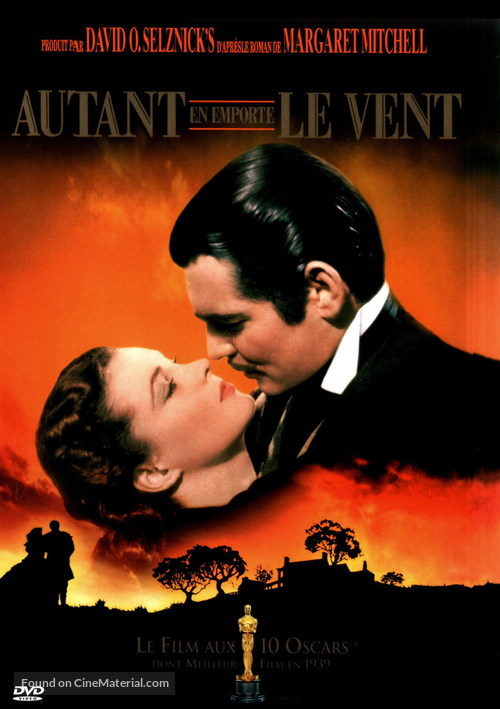 Gone with the Wind - French DVD movie cover