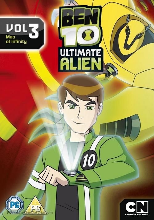 """Ben 10: Ultimate Alien"" - British DVD movie cover"