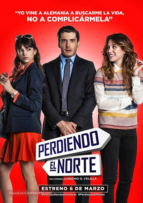 Perdiendo el norte - Spanish Movie Poster