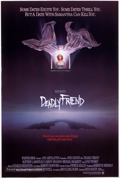 Deadly Friend - Movie Poster