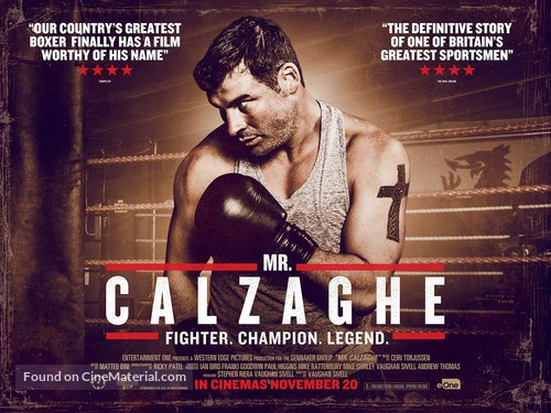 Mr Calzaghe - British Movie Poster