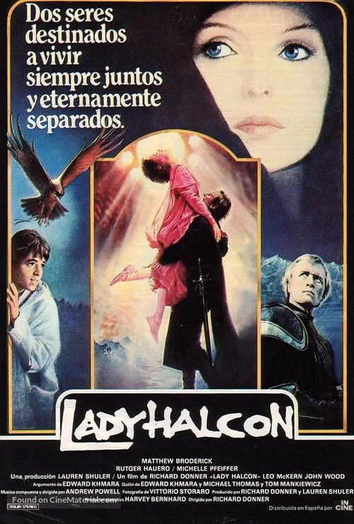 Ladyhawke - Spanish Movie Poster