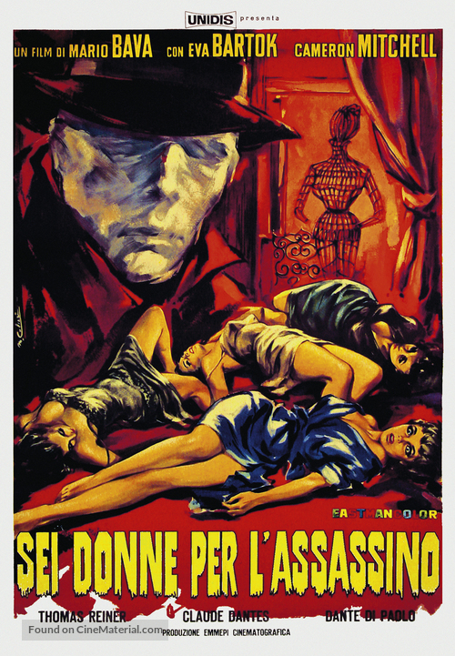 Sei donne per l'assassino - Italian Movie Poster