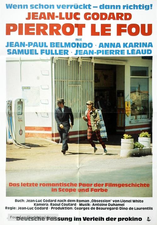 Pierrot le fou - German Movie Poster
