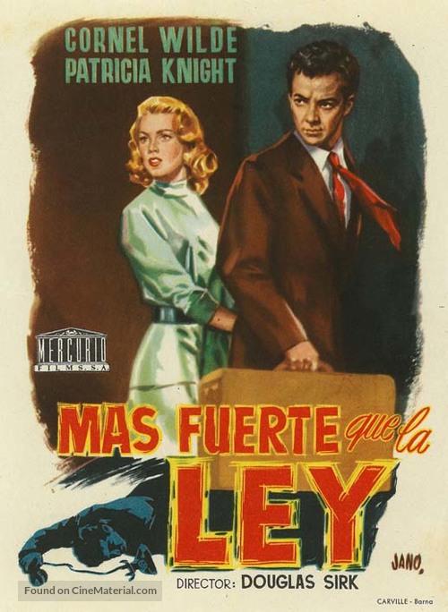Shockproof - Spanish Movie Poster