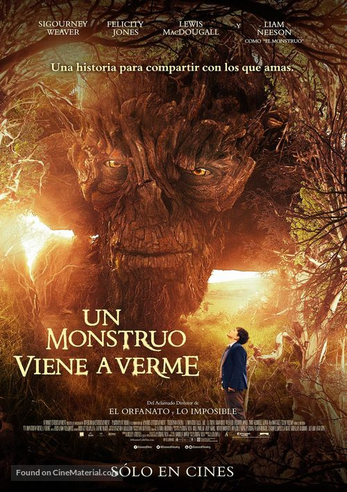 A Monster Calls - Argentinian Movie Poster