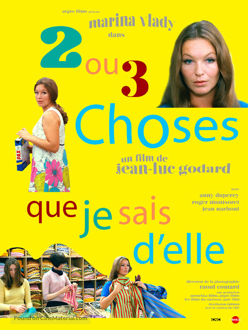 2 ou 3 choses que je sais d'elle - French Re-release movie poster