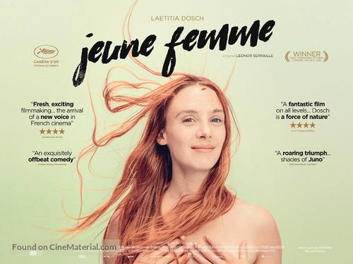 Jeune femme - British Movie Poster