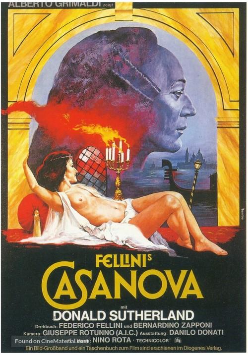 Il Casanova di Federico Fellini - German Movie Poster
