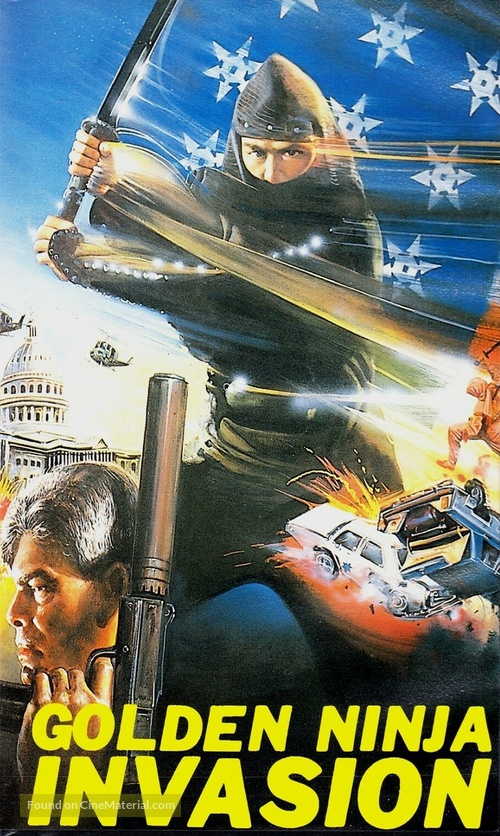 Golden Ninja Invasion - German VHS cover