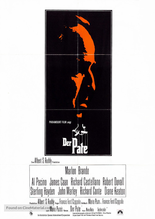 The Godfather - German Movie Poster