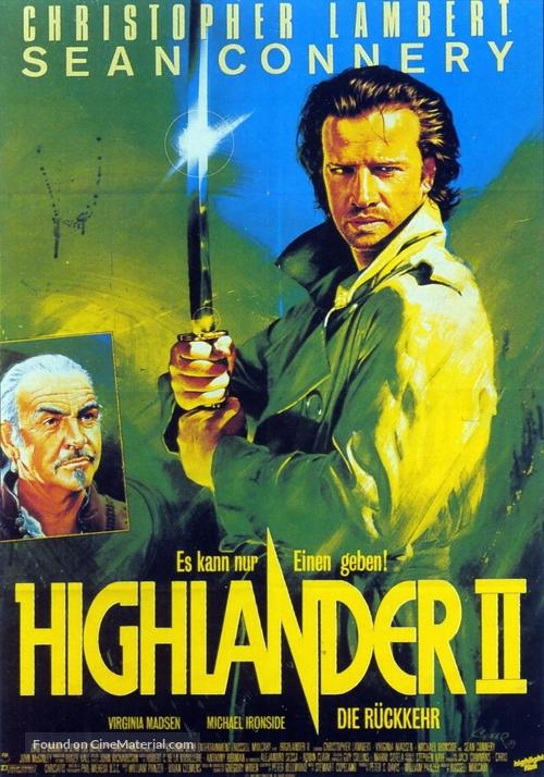 Highlander 2 - German Movie Poster