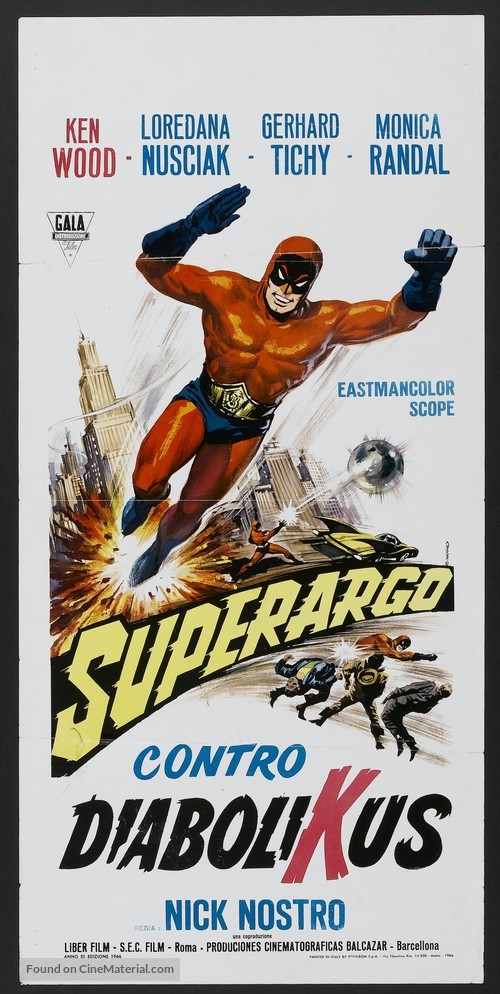 Superargo contro Diabolikus - Italian Movie Poster