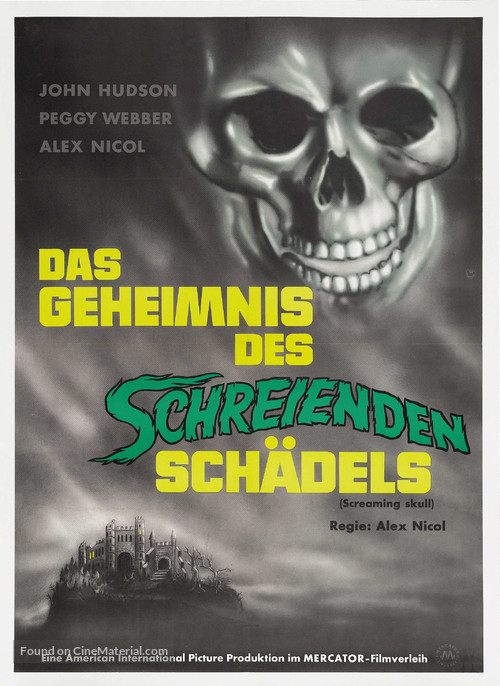 The Screaming Skull - German Movie Poster