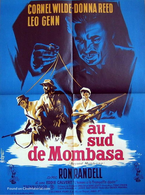 Beyond Mombasa - French Movie Poster