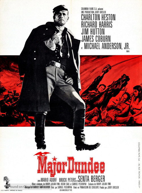 Major Dundee - French Movie Poster