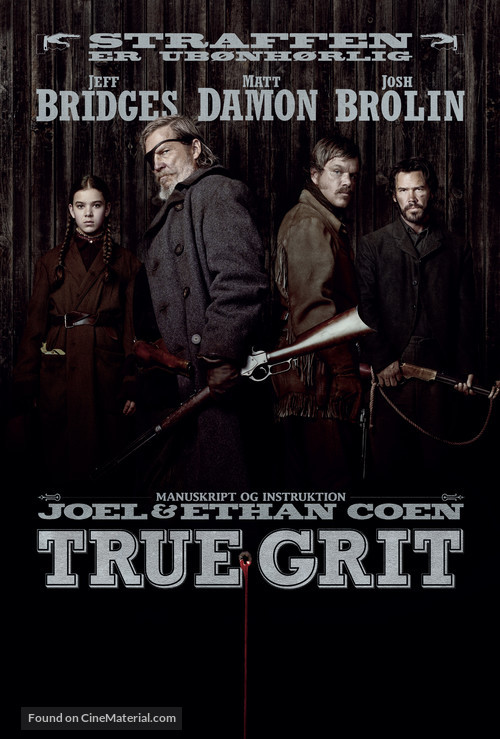 True Grit - Danish Movie Poster
