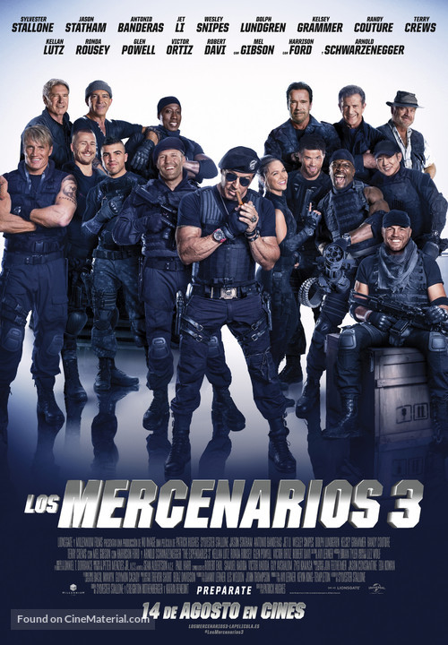 The Expendables 3 - Spanish Movie Poster