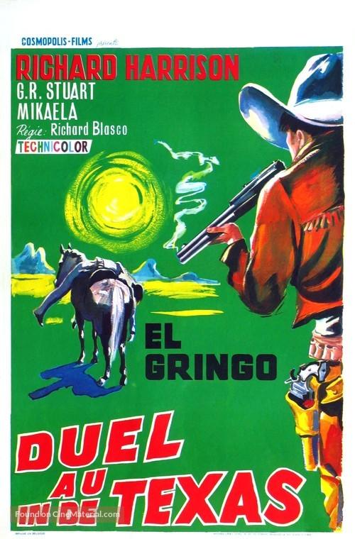 Duello nel Texas - Belgian Movie Poster