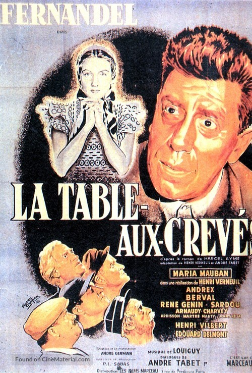 La Table-aux-Crevés - French Movie Poster