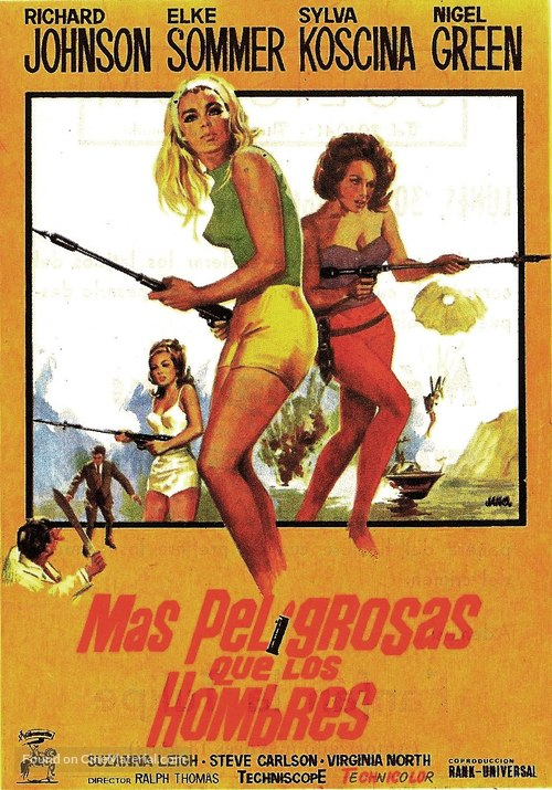 Deadlier Than the Male - Spanish Movie Poster