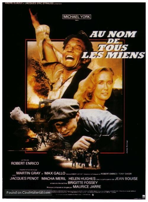 Au nom de tous les miens - French Movie Poster