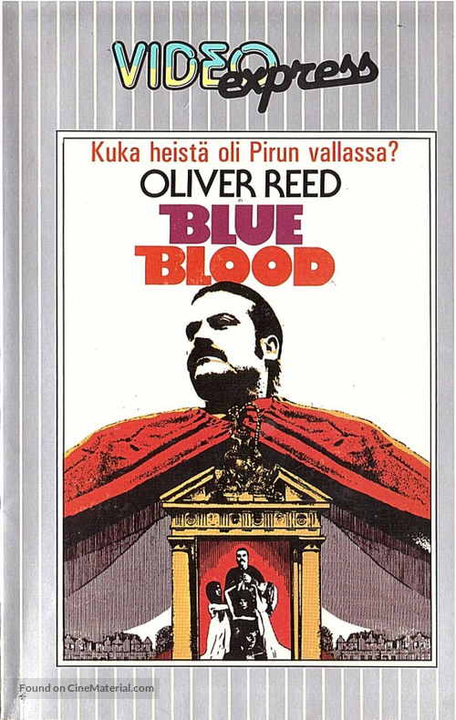 Blue Blood - Finnish VHS movie cover