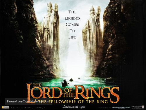 The Lord of the Rings: The Fellowship of the Ring - British Movie Poster