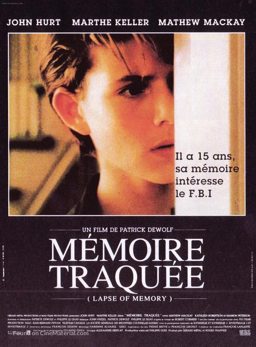 Lapse of Memory - French Movie Poster