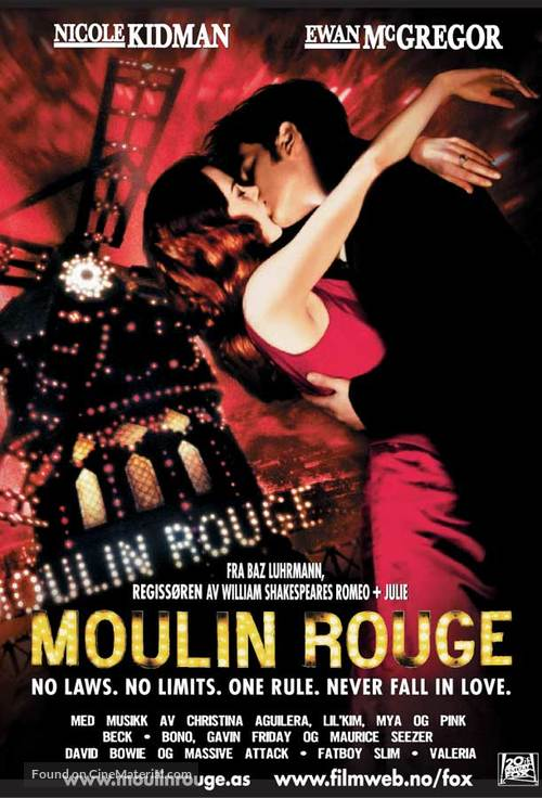 Moulin Rouge - Norwegian Movie Poster