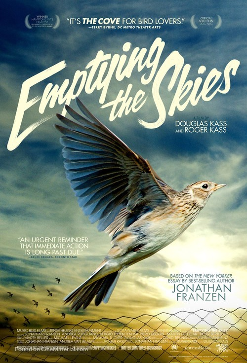 Emptying the Skies - Movie Poster