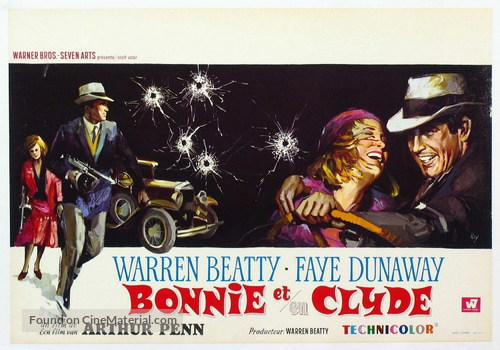 Bonnie and Clyde - Belgian Movie Poster