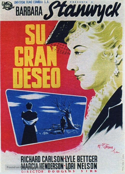 All I Desire - Spanish Movie Poster