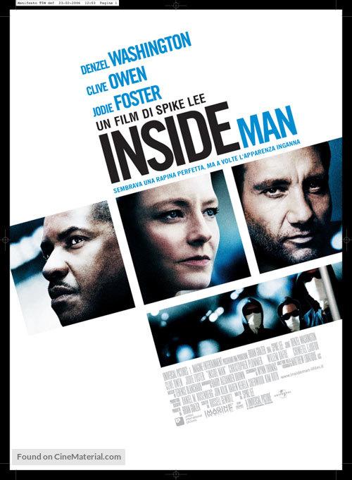 Inside Man - Italian Movie Poster