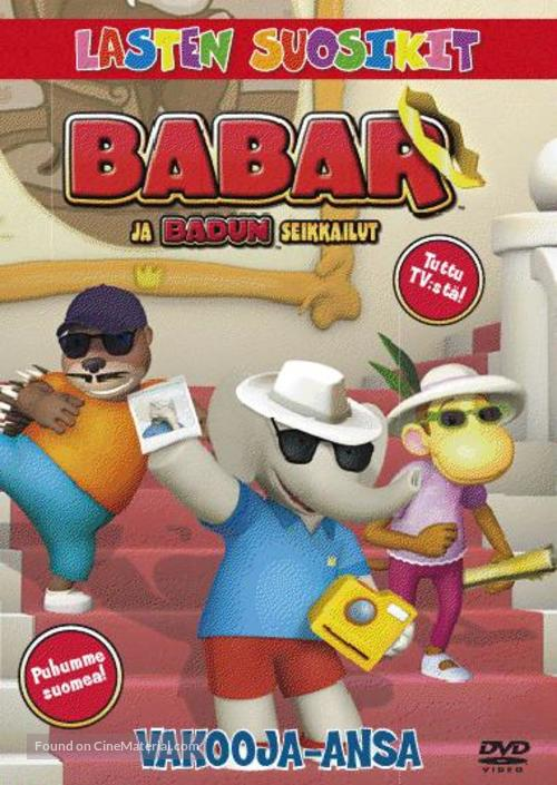 """Babar and the Adventures of Badou"" - Finnish DVD movie cover"