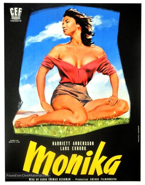 Sommaren med Monika - French Movie Poster