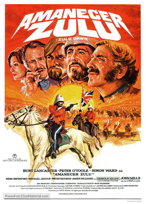 Zulu Dawn Spanish Movie Poster