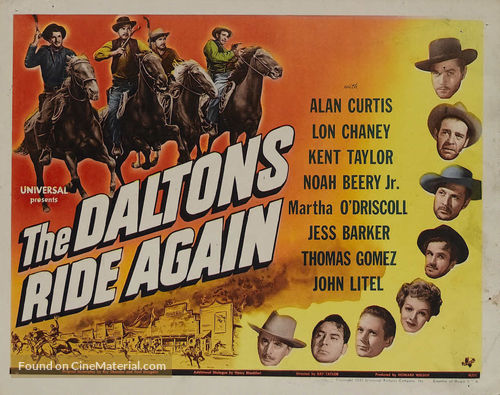 The Daltons Ride Again - Movie Poster
